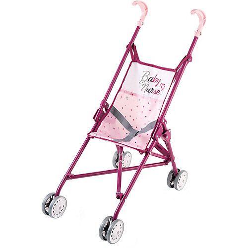 Smoby Puppenwagen zusammenklappbar rosa/lila