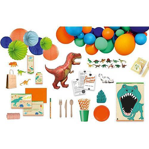 in a box® Roooaar Dinosaur Party Box, Bis 12 Personen, mit Tattoos als Gastgeschenke bunt