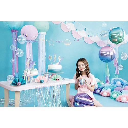 in a box® Let's be Mermaid Party Box, Bis 12 Personen, mit Mermaid-Stift als Gastgeschenk bunt