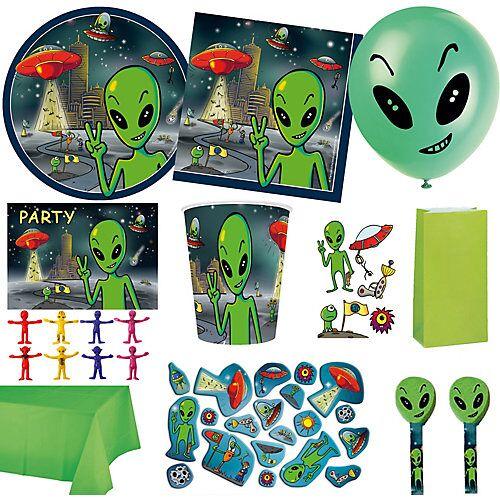 PARTYSTROLCHE® XXL-Partyset Alien, 149-tlg.