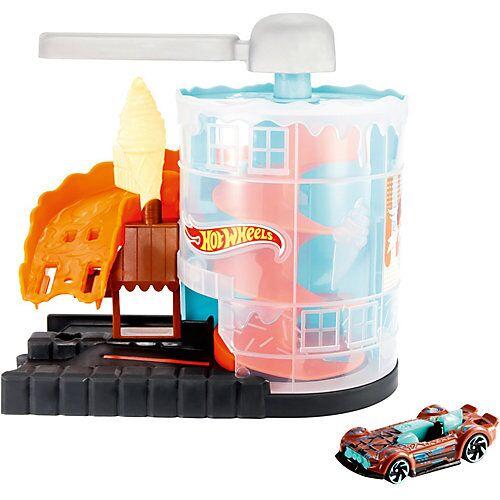 Mattel Hot Wheels Eismaschinen Rampe Spielset inkl. 1 Spielzeugauto