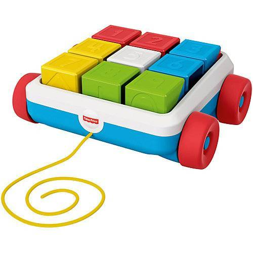 Mattel Fisher-Price Bausteinwagen, Baby-Spielzeug, Steckspiel, Bausteine, Sortierspiel