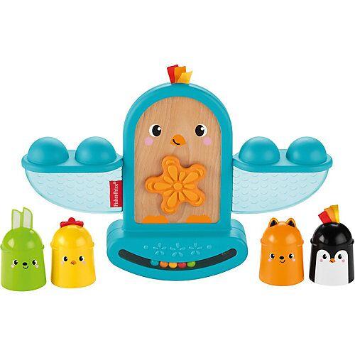 Mattel Fisher-Price Stapel & Schaukel Vögelchen, Baby-Spielzeug, Stapelspielzeug
