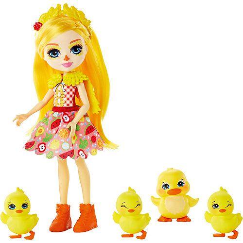 Mattel Enchantimals Dinah Duck Puppe, Slosh & Familie