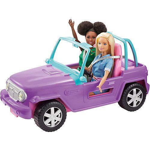 Mattel Barbie Strand-Jeep, Barbie Zubehör, Barbie Auto, Spielzeugauto, Barbie Fahrzeug