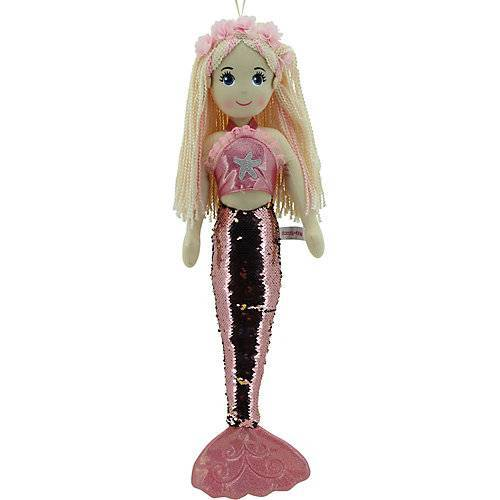 Sweety Toys 11889 Stoffpuppe Meerjungfrau Plüschtier Prinzessin 70 cm rosa