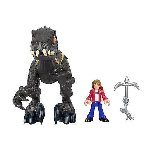 Mattel Imaginext Jurassic World Indoraptor & Maisie, Action-Figur, Spielzeug Dinosaurier bunt