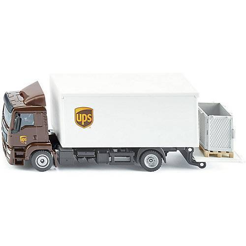 SIKU MAN LKW mit Kofferaufbau und Ladebordwand UPS