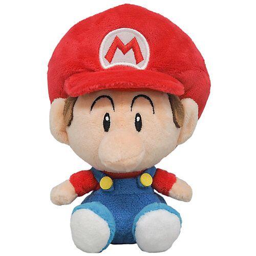 Super Mario Super-Mario Plüschfigur Nintendo Baby Mario, 15 cm