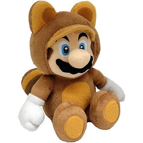 Super Mario Plüschfigur Tanooki Mario, 22 cm