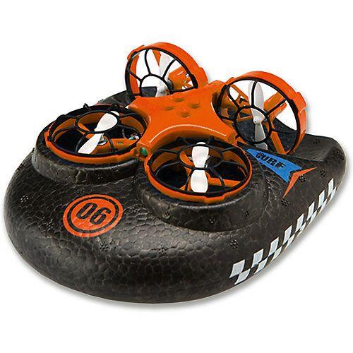 Amewi Trix - 3 in1  Hovercraft Drohne, orange. Für Wasser - Land - Luft
