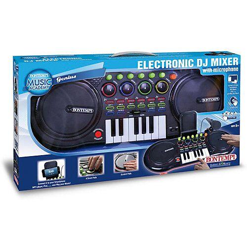 Bontempi DJ Mixer mit Mikrofon schwarz