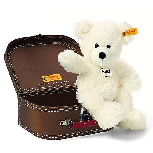 Steiff  Teddybär Lotte 28 cm weiss im Koffer