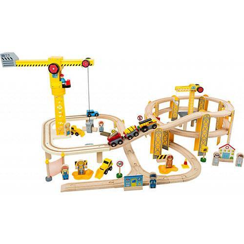 Small Foot Eisenbahnset Baustelle bunt