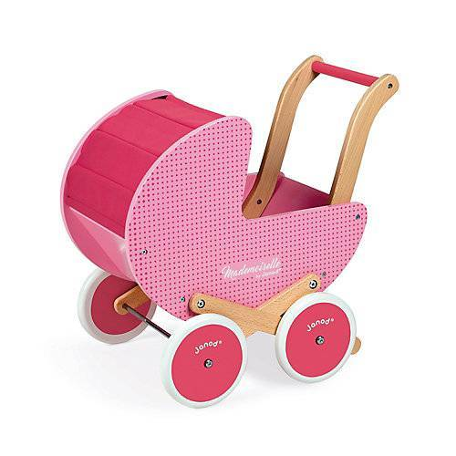 Janod Mademoiselle Puppenwagen (Holz) rosa