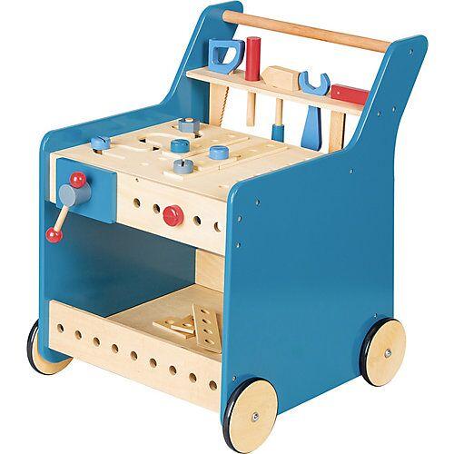 Pinolino Werkzeugwagen 'Kalle', blau natur/blau