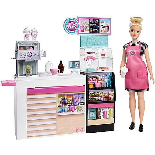 Mattel Barbie Nasch-Café Spielset mit Puppe (blond), über 20 Teile Puppen-Zubehör