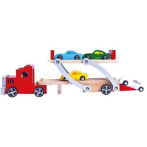 Bino Holz-Autotransporter, 9 Teile
