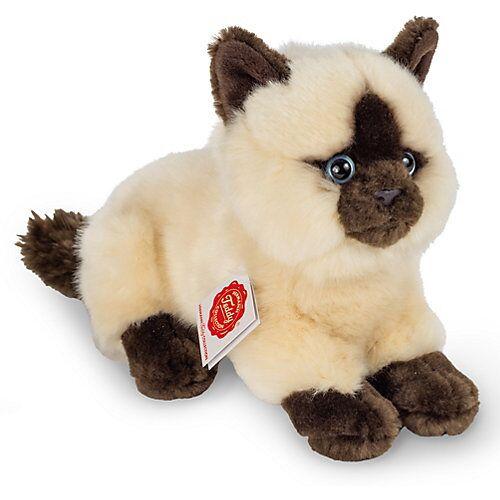 Teddy-Hermann Siamkatze liegend, 20 cm