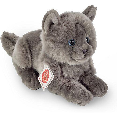 Teddy-Hermann Kartäuser Katze liegend, 20 cm