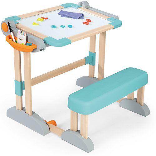 Smoby Zusammenklappbarer modularer Holz-Spieltisch 2-in-1, Tafel - Maltisch - Schreibtisch