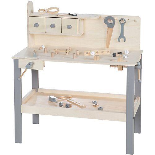 Roba Werkbank Holz grau