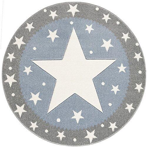 Happy Rugs Kinderteppich Fancy, grau/blau, Ø 100 cm blau/grau