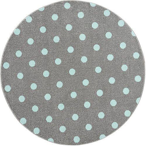 Happy Rugs Kinderteppich Circle, grau/mint, Ø 100 cm