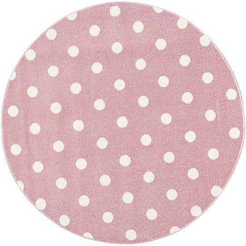 Happy Rugs Kinderteppich Circle, rosa/weiß, Ø 160 cm