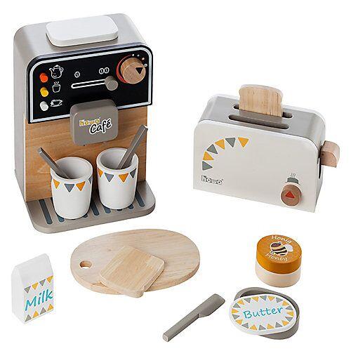 howa Kaffeemaschine und Toaster incl. Zubehör bunt