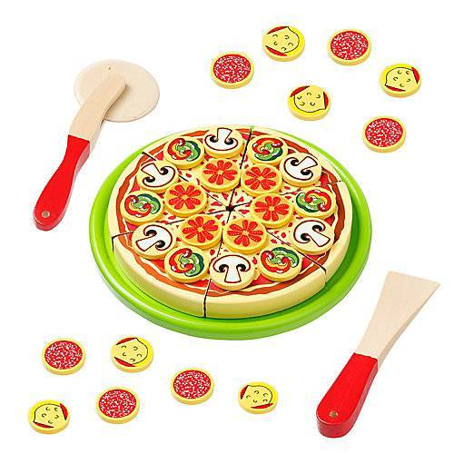 howa Schneidepizza mit Pizzaroller, Heber und Pizzakarton bunt