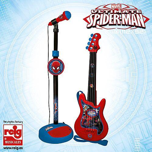 Spider-Man Gitarre mit Mikrofon weiß/beige