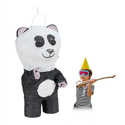 relaxdays Pinata Panda weiß-kombi