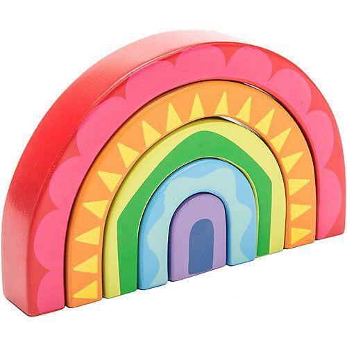 Le Toy Van Petilou Regenbogen Tunnel Stapel-Spielzeug PL107 bunt
