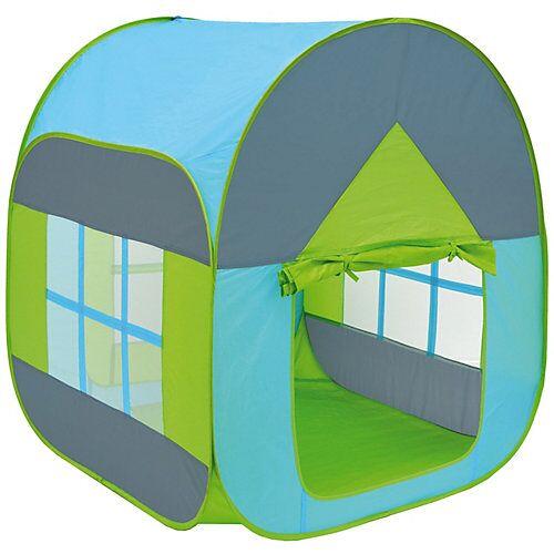 LittleTom Kinder Pop Up Spielzelt - Bällebad Kinderzelt Blau mehrfarbig