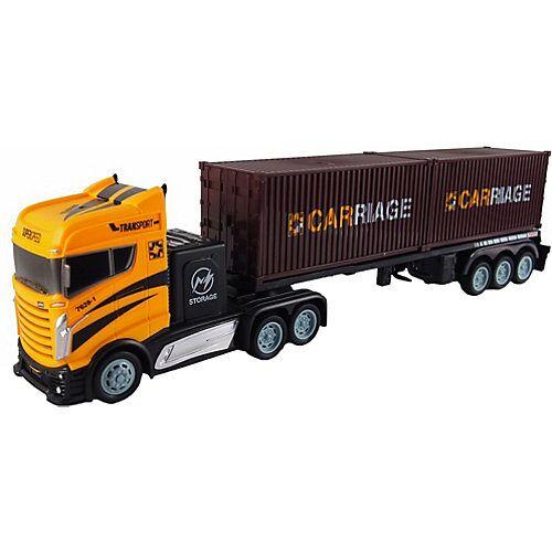 Amewi Sattelzug mit zwei Containern 1:16  - 2,4GHz, 15 km/h gelb-kombi