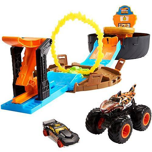 Mattel Hot Wheels Monster Trucks Stunt-Reifen Spielset