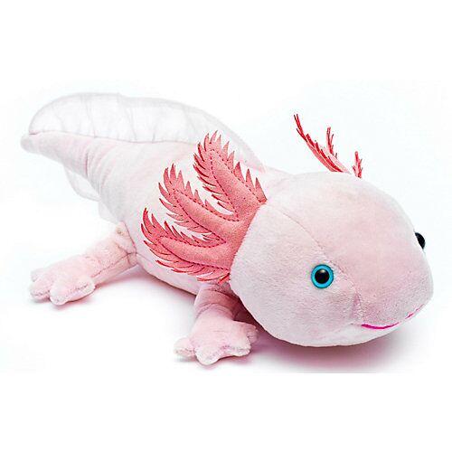 UNI-TOYS® Axolotl - 32 cm (Länge) - Plüsch-Lurch, Plüschtier Kuscheltiere rosa