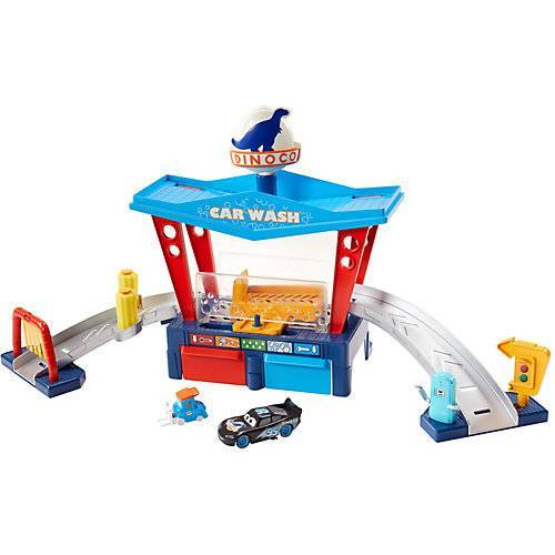 Mattel Disney Pixar Cars Farbwechsel Dinoco Autowaschanlage Spielset