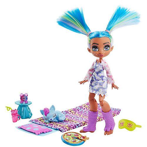 Mattel Cave Club Pyjamapartyspaß mit Tella Spielset & Puppe