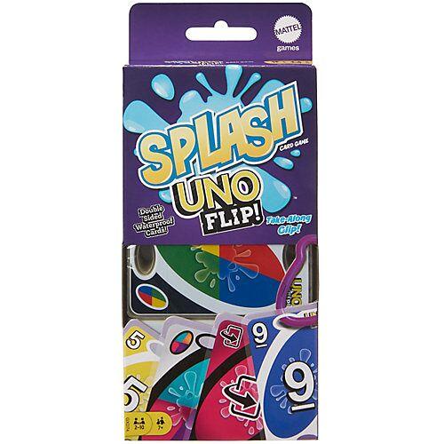 Mattel UNO FLIP! Splash, Kartenspiel wasserfest