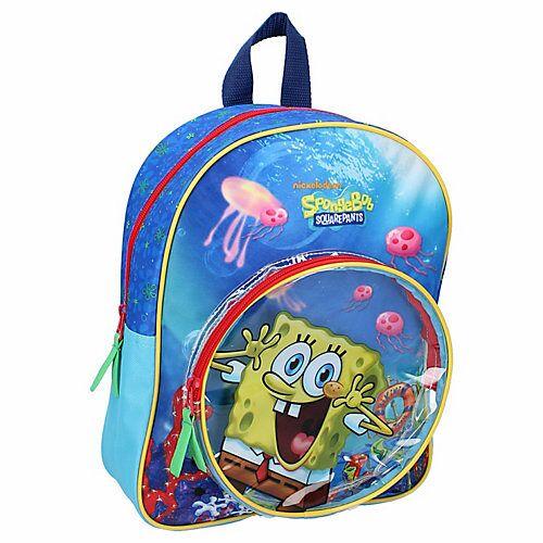 Rucksack Spongebob Jumping Jellyfish Kindergartenrucksäcke blau