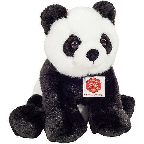Teddy-Hermann Panda sitzend 25 cm schwarz/weiß