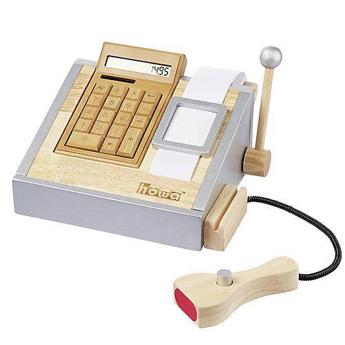 howa Spielkasse mit Rechner und Spielgeld natur