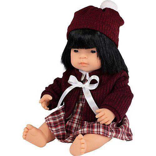Miniland Babypuppe Mädchen + Kleid 38 cm bunt