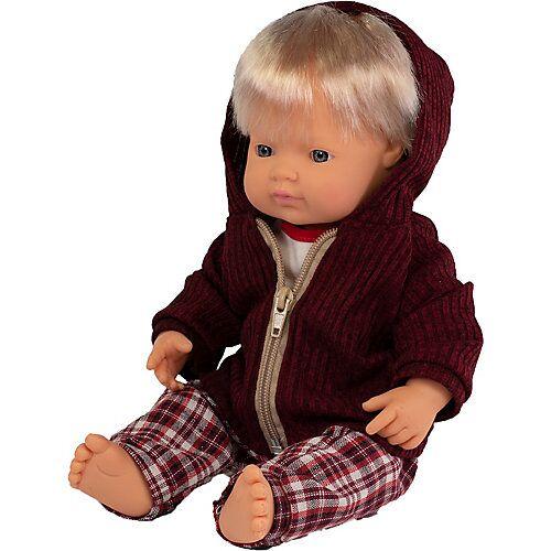 Miniland Babypuppe Junge + Kleidung, 38 cm bunt