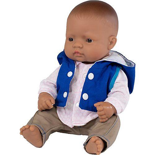 Miniland Babypuppe Junge + Kleidung, 32 cm bunt