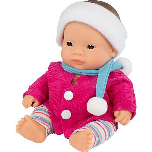 Miniland Babypuppe Mädchen + Kleid, 21 cm bunt