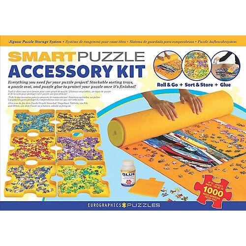 Eurographics Smart Puzzle Zubehörpaket - Kleber, Puzzlematte & Sortierschalen