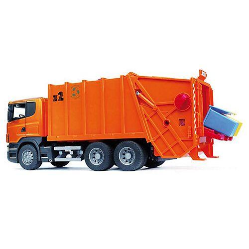 BRUDER 03560 Scania Müll-LKW orange